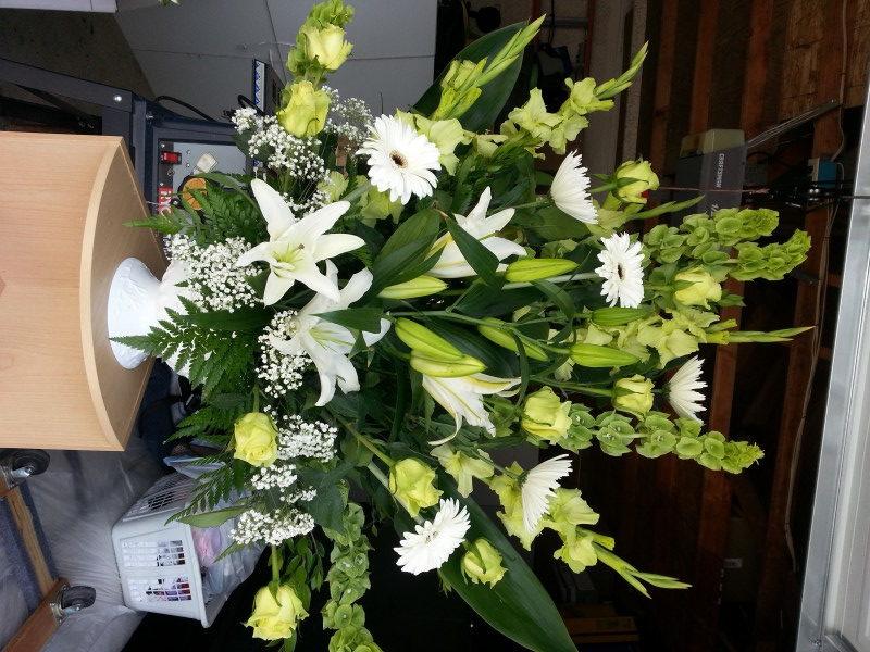 Dozen Yellow Roses, Lilacs, White Dasies & Assorted Flowers