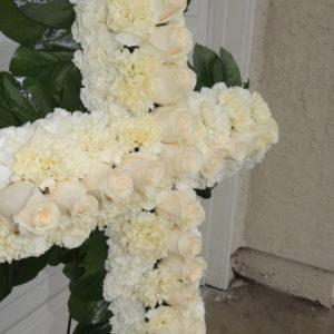 Yellow Rose Funeral Cross