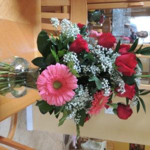Dozen Red Roses, Pink Daisies & Baby's Breath
