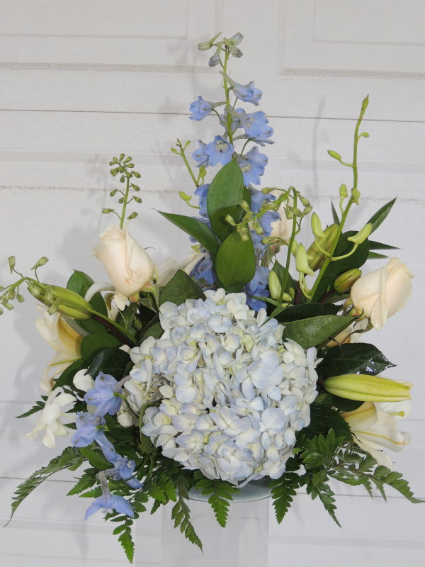 White roses white lilies mums blue bonnets alex flowers white roses white lilacs mums blue bonnets mightylinksfo