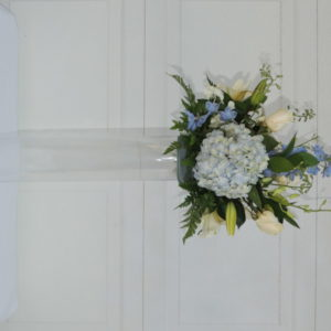 Yellow Roses, Lilies, Mum & Blue Bonnets