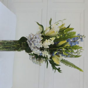 Yellow Lilies, Blue Bonnets & Assorted Flowers