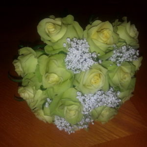 Yellow Rose & Baby's Breath Wedding Bouquet