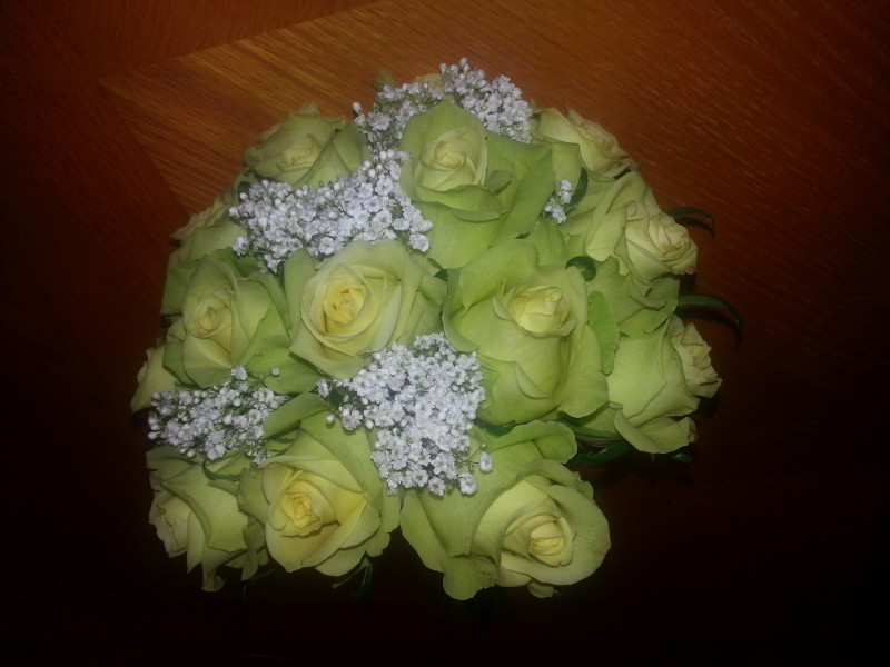 Yellow Rose Babys Breath Wedding Bouquet Alex Flowers