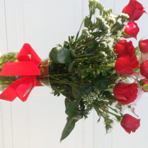 9 Red Roses, 3 Pink Roses & Baby's Breath