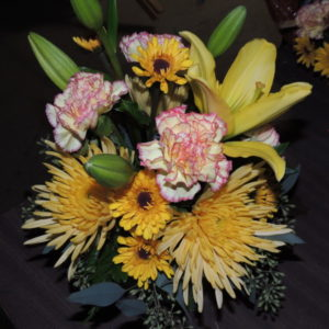 Yellow Lilies And Daisies, Pink Carnations With Assorted Flowers