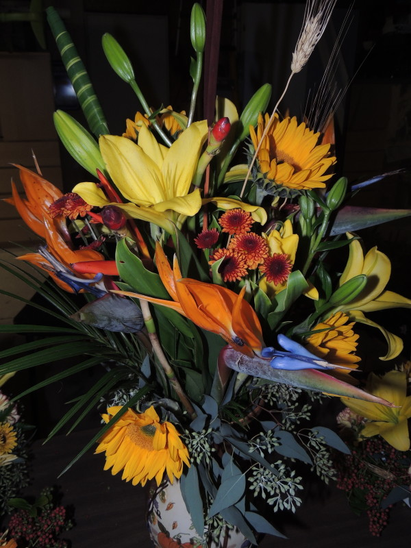 Birds Of Paradise, Yellow Lilies & Assorted Flowers