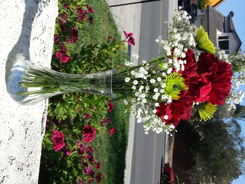 Red Roses & Assorted Flowers With Baby's Breath
